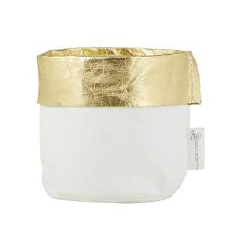 Gold & White Holder - Small