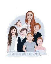 "Load image into Gallery viewer, Custom ""Family Faux-to"" Illustration"