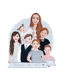 "Custom ""Family Faux-to"" Illustration"