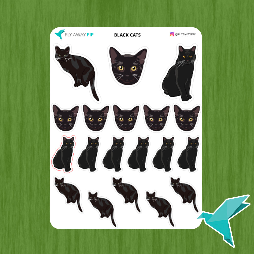 Black Cats Stickers