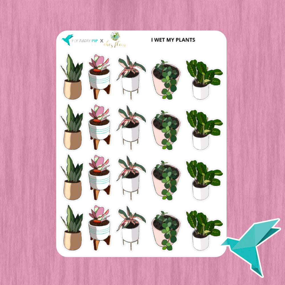 I Wet My Plants Stickers