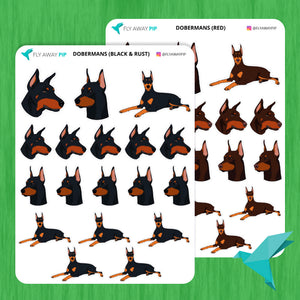 Doberman Stickers