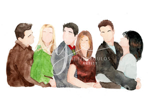 Friends Watercolor Print