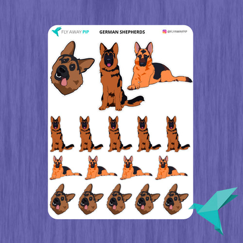 German Shepherd Stickers