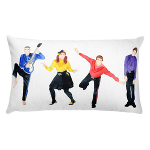 Wiggles Throw Pillow