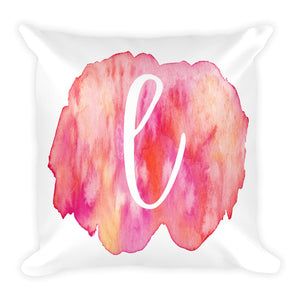 "Watercolour ""l"" Pillow"