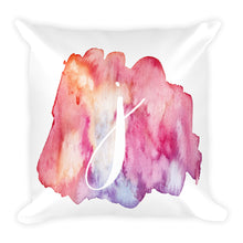 "Load image into Gallery viewer, Watercolour ""j"" Pillow"