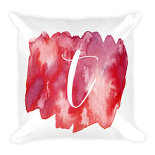 "Load image into Gallery viewer, Watercolour ""t"" Pillow"