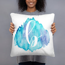 "Load image into Gallery viewer, Watercolour ""b"" Pillow"