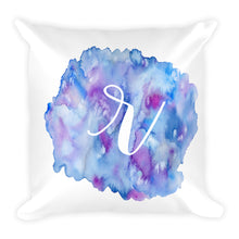"Load image into Gallery viewer, Watercolour ""r"" Pillow"