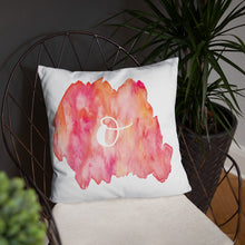 "Load image into Gallery viewer, Watercolour ""o"" Pillow"
