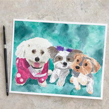 Load image into Gallery viewer, Watercolor Pet Portrait