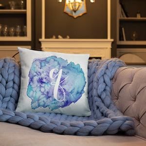 "Watercolour ""q"" Pillow"