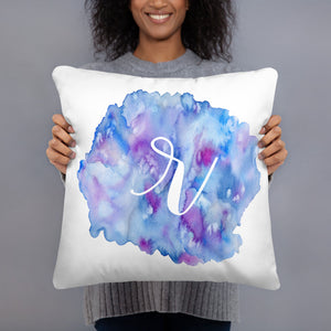 "Watercolour ""r"" Pillow"