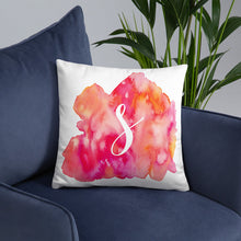"Load image into Gallery viewer, Watercolour ""s"" Pillow"