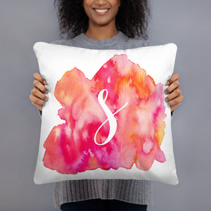 "Watercolour ""s"" Pillow"