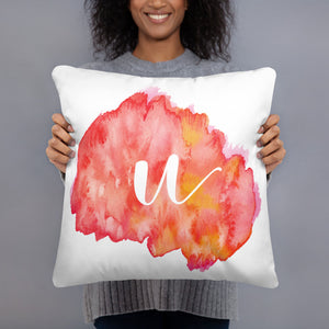 "Watercolour ""u"" Pillow"