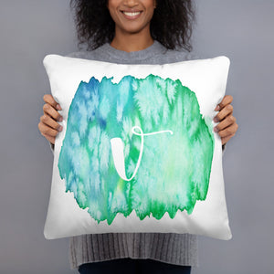"Watercolour ""v"" Pillow"