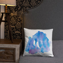 "Load image into Gallery viewer, Watercolour ""w"" Pillow"
