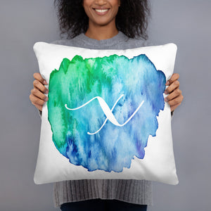 "Watercolour ""x"" Pillow"