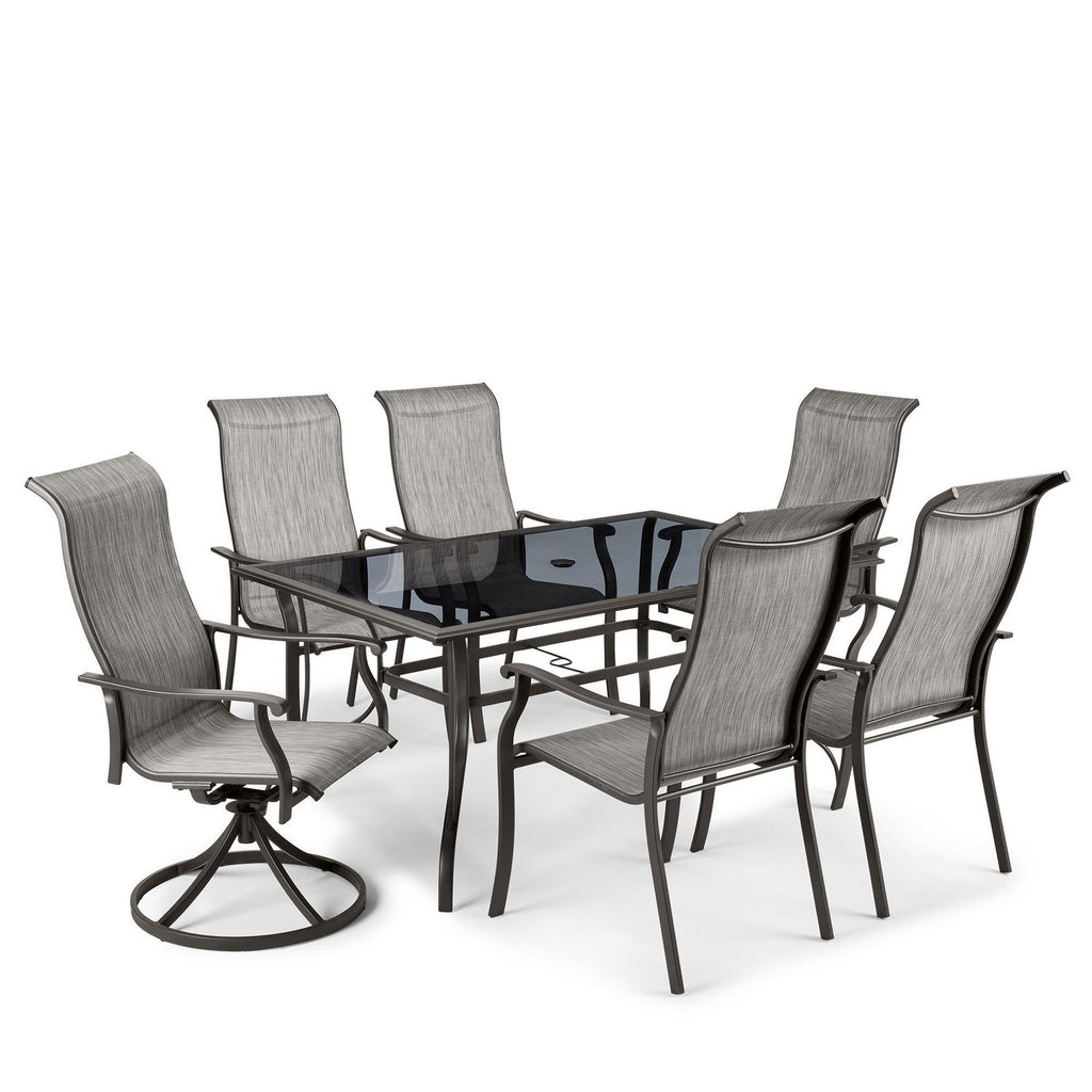 Mainstays Charleston Sling Dining Set Brown Chairs Only One Stop Discount Shop