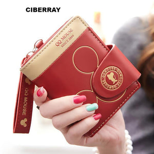 9c47d0b30 Women small wallet cartoon mickey cute coin purse hasp card holder womens  wallets and purses female wallets famous brand