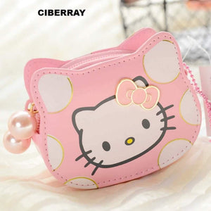 1e1095a3b 2018 News Hello Kitty Mini cute coin purses with pearl zipper and have  double pockets wallet for children