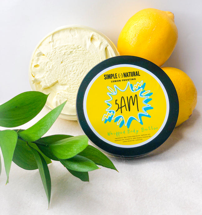 5AM - 8oz Whipped Body Butter - Simple Dot Natural