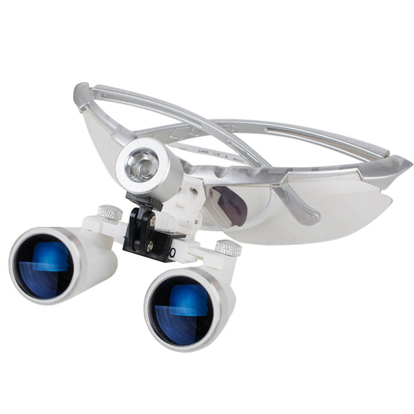 Dental Binocular Loupes 3.5X 320mm Optical Glass Loupe for Dentist  Surgical Medical Silver
