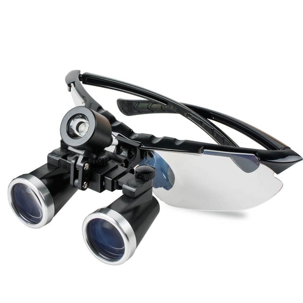 Surgical Medical Binocular Loupes 3.5X 420mm Optical Glass Loupe for Dentist (Black)