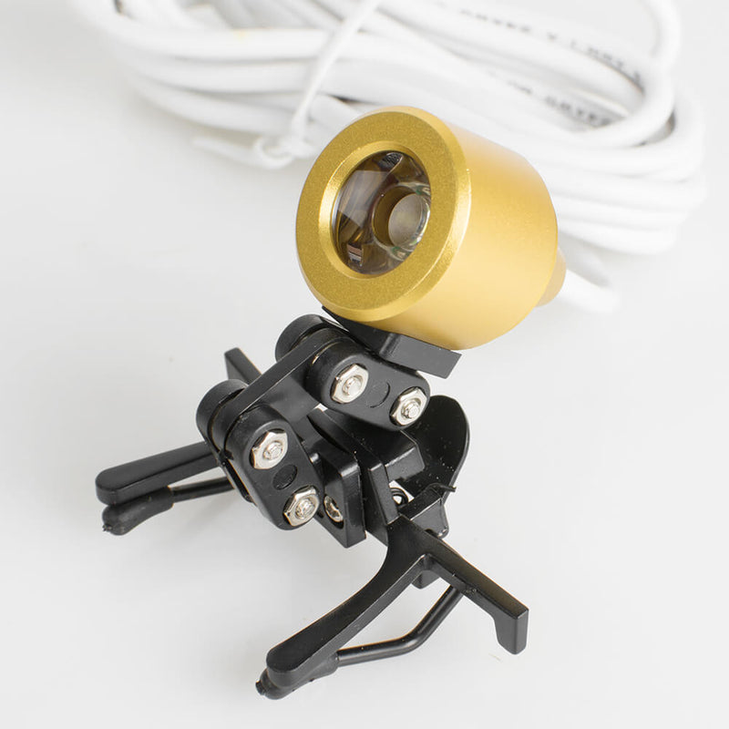Portable Yellow Head Light Lamp for Dental Surgical Medical Binocular Loupe