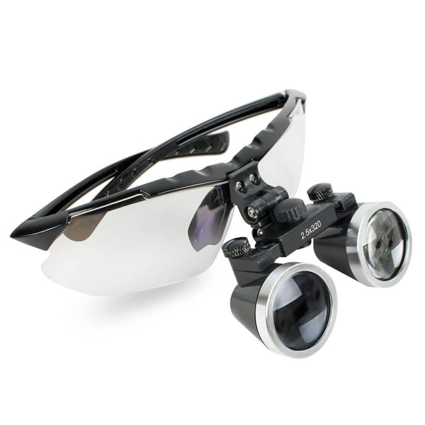 Dental Surgical Medical Binocular Loupes 2.5X 320mm Optical Glass Loupe for Dentist (Black)
