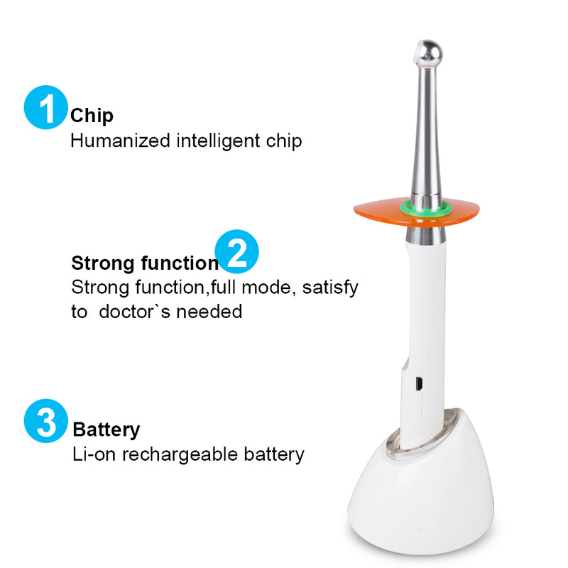 Dental Cordless LED Curing Light 1 Second Cure Lamp