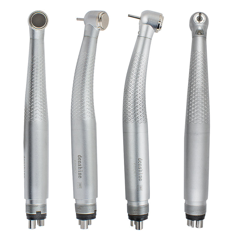 4-Hole Dental LED Handpiece Push Button 3 Way High Speed Handpiece
