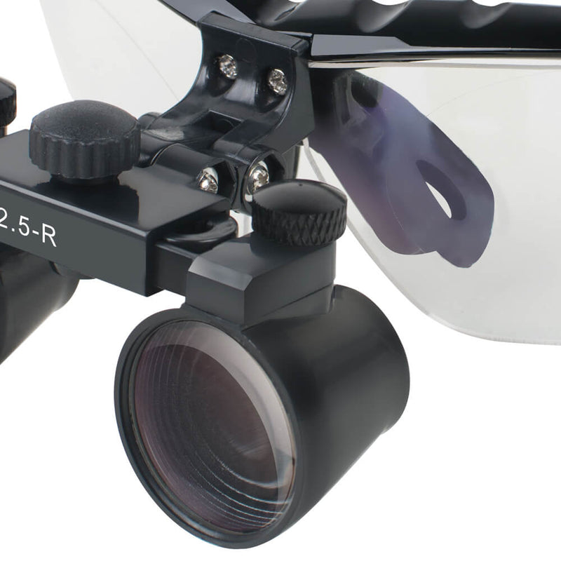 Dentist Black Dental Surgical Medical Binocular Loupes 2.5X Optical Glass Loupe