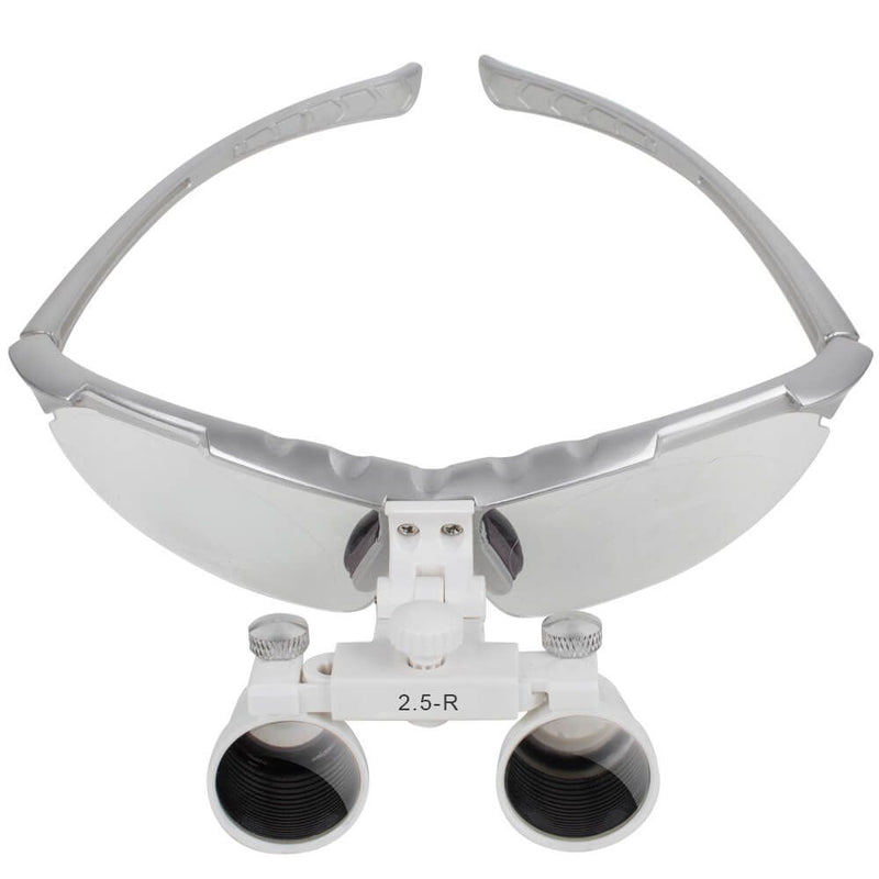 Dentist Silver Dental Surgical Medical Binocular Loupes 2.5X Optical Glass Loupe