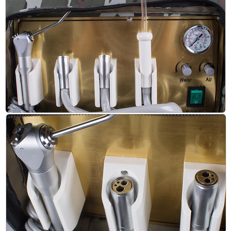 Portable Dental Unit with Air Compressor Suction System 3 Way Syringe
