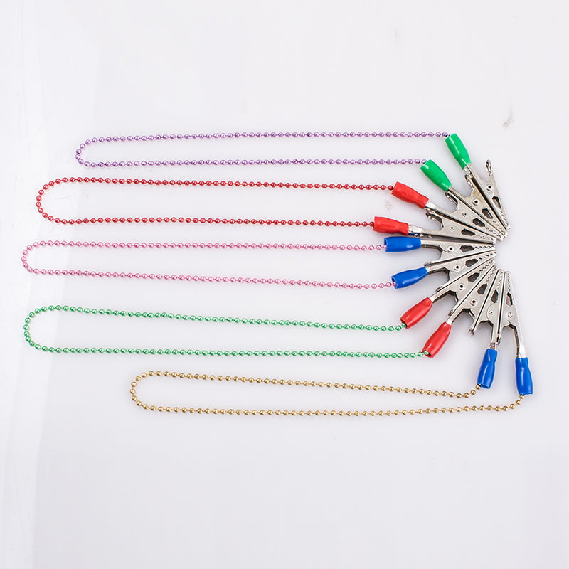 5 PCS Dental Bib Clips Napkin Holder Flexible Ball Chain