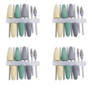 8pcs Dental Resin Base Acrylic Polishing Burs Drill Polisher Rotary