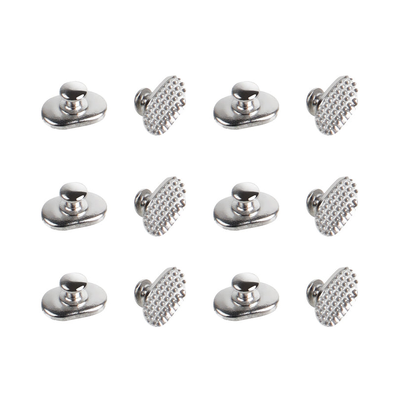 10 Pcs Dental Orthodontic Lingual Buttons Bondable Elliptical Mesh Base