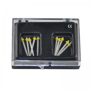 1.0MM 10Pcs Dental Fiber Post Glass Set Refill Drill Thread Files