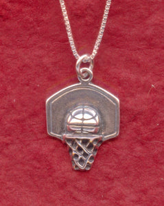 Sterling Silver Basketball Necklace