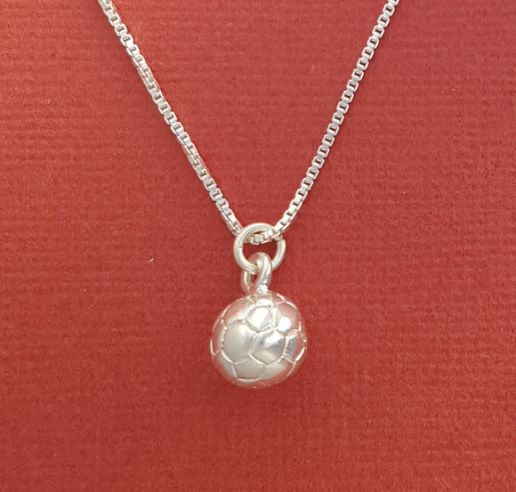 Sterling silver soccer necklace