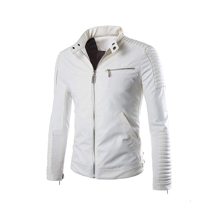 Original Lightweight Leather Jacket for Men - White