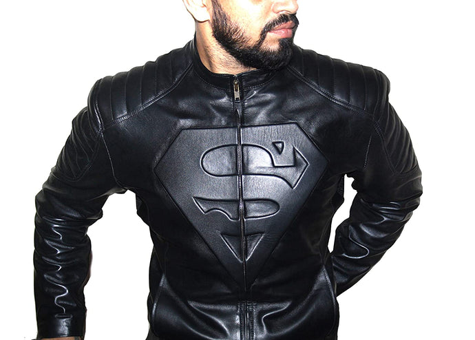 Genuine Leather Superman Jacket