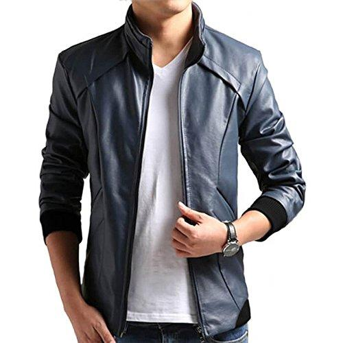Men's Pure Leather Blue Jacket