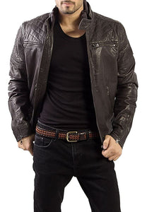 Brown Leather Men's Jacket