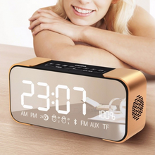 Load image into Gallery viewer, TOPROAD PORTABLE WIRELESS STEREO ALUMINUM PARLANTE FM RADIO BLUETOOTH SPEAKER