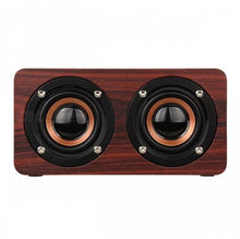 Load image into Gallery viewer, WOODEN WIRELESS BLUETOOTH SPEAKER PORTABLE HIFI SHOCK BASS