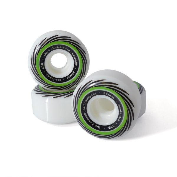 4 Company Sweepers Wheels 83b - Green 56mm